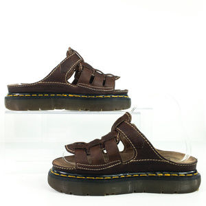 Dr Martens Womens Fisherman Sandals Mules Brown